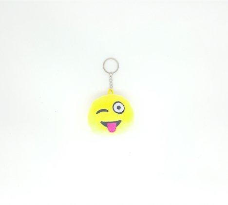 2inch mini Wink Emoji portachiavi-Giallo Gn imprese, Tessuto, Yellow, Confezione da 10