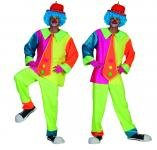 Funny Fashion Neon Adult Clown Costume Sm