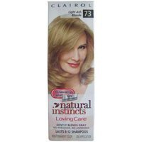 Clairol Natural Instincts Loving Care, Light Ash Blonde #73 (One Application).