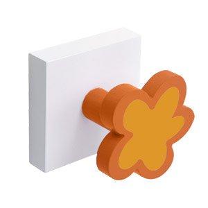 Percha Base Blanca Flor Naranja de NESU