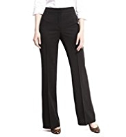 M&S Collection New Wool Rich Wide Leg Trousers