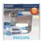 Philips 12258 H1 55W 5000K Diamond Vision Premium Halogen Headlight Bulbs(Dc 12V/2-Pack)