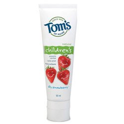 Toms of Maine Childrens Silly Strawberry Fluoride Toothpaste Stand Up Tube 90ml
