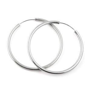 SILVER ROCK JEWELLERY - Orecchini ad anello in argento 925, diametro 25 mm