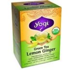 Green Tea Lemon Ginger, Caffeine, 16 Tea Bags, 1.12 oz (32 g)