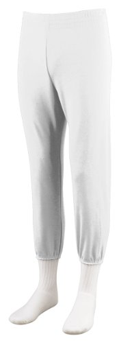 Augusta Sportswear Youth Pull Up Baseball Pant, White, Small front-811985