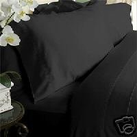 4pc King size bedding set Including Solid black Duvet cover set + king size Down Alternative comforter 300 thread count 100% egyptian cotton by sheetsnthings