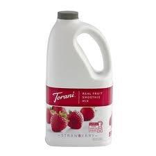 Torani Strawberry Real Fruit Smoothie (1 Single 64 Ounce Bottle-Half Gallon-1.89-Liter Bottle) front-934599