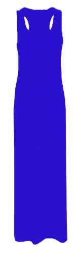 Womens Plus Size Big Size Viscose Jersey Long Racer Back Ladies Maxi Dress.