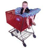 Floppy Seat Ez Carry Shopping Cart and High Chair Cover (Blue ABC)