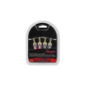Rocketfish Speaker Cable Banana Plugs (4-Pack) - Red/Black