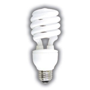 Dimmable Compact Fluorescent Light Bulb 24 Watts Spiral 27k Dimmable Cfl Supra Life Warm Tone