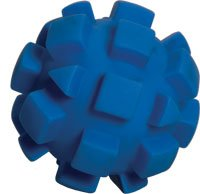 Bumpy Ball Dog Toy – Blue – 7 in