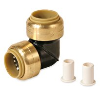KBI 1/2 in. Polysulfone CTS 90 Degree Glueless Quick Connect Elbow Push Fitting for PEX CPVC Copper