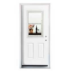 New Concept Exterior Doors Pre Hung Steel Mini Blinds Collection White Pre Finis