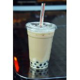 100 Sets 24 Oz Plastic Clear Cups with Flat Lids for Iced Coffee Bubble Boba Tea Smoothie G