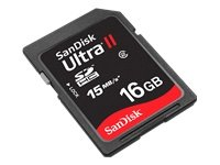 SanDisk Ultra II SD card with 16GB capacity, EACH