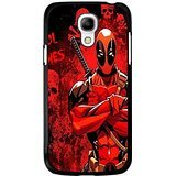 Samsung Galaxy S4 Mini Cover Shell Unique Red Skulls Design Awesome Comic Superhero Deadpool Phone Case Cover for Samsung Galaxy S4 Mini Mercenary Great
