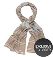 M&S Collection Cashmere Rich Varied Striped Scarf