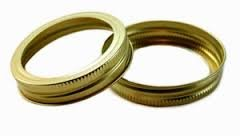 Generic (made by Ball) REGULAR Mason Jar Canning GOLDBands/Rings, 120 Bands (10 dozen) (Bands only; no lids), BULK.