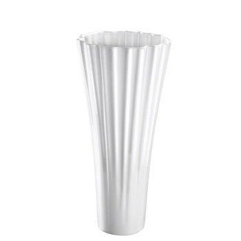 Vase Magno, 40 cm, weiß matt