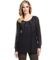 M&S Collection Sunray Stud Embellished Tunic