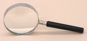 SEOH Magnifying Glass Metal Mount Plastic Handle 3 Inch
