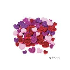 500 GLITTER HEART Foam BEADS Activity 1/2 -1/NEW in package/LOVE/VALENTINE/Pink RED/ Arts & Crafts FUN Childrens Activity