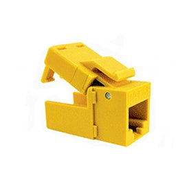 Platinum Tools 706YL-1 EZ-SnapJack Cat.6 Connector-Yellow