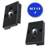 Quick Release Plate for the RC2 Rapid Connect Adapter (SET OF 2) for MANFROTTO 804RC2