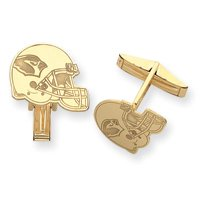 14K Arizona Cardinals Helmet Cuff Links - JewelryWeb