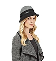 M&S Collection Wool Rich Contrast Trilby Hat