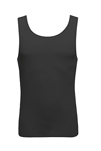 nasse-mens-sleeveless-tee-vest-cotton-singlet-round-neck-free-cut-tank-top-m-black