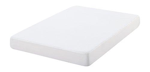 Oasis-Fodera per materasso antibatterico, 100% cotone, colore: bianco 135 x 190 cm