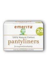 Cotton Ultra Thin Pantyliners, Individually Wrapped Emerita 24 ct Box