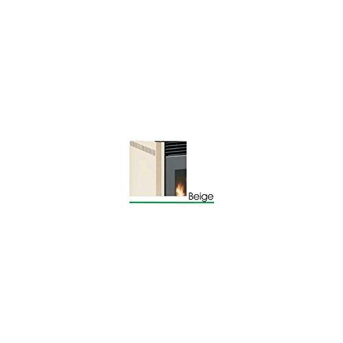 Stufa-a-pellet-La-Castellana-Lady-BEIGE-10-Kw-Telecomando-infrarossi-Cronotermostato-Rivestimento-in-Maiolica-Alimentazione-combinata-a-pellet-di-legno-e-nocciolino-di-oliva-tritato-Abbattitore-delle-