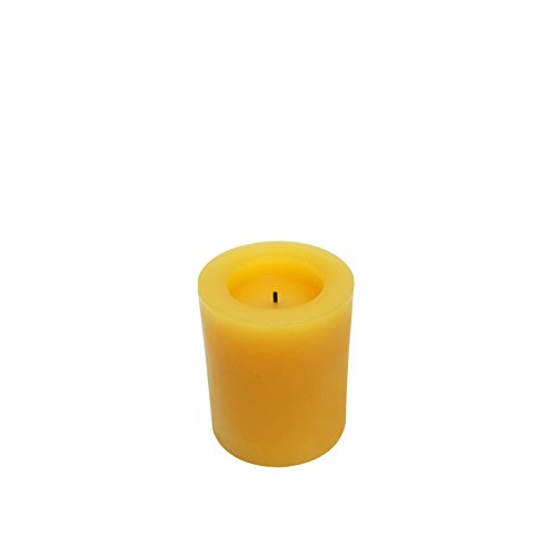Apple Expressme2u 4'' Flameless Wax Pillar Candles Orange With Apple Cinnamon  5 Hrs Timer