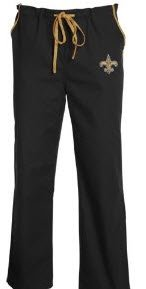 New Orleans Saints Scrub Pants (S)