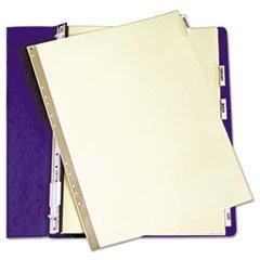 ** Gold Line Data Binder Insertable Tab Index, 6-Tab, 14-7/8 x 11, Buff, 6/Set card guides alpha 1 5 tab polypropylene 5 x 8 25 set