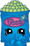 2014 SHOPKINS FIGURES - FREEZY PEAZY #136 SEASON 1 - (SPECIAL EDITION)