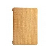 Grid Pattern Protective Leather Smart Case with Stand for IPAD MINI 1 / 2 - Golden Golden