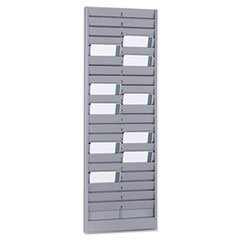 Steelmaster Swipe Card Or Badge Rack, 40 Card Capacity, 8.13 X 23.13 X 0.5 Inches, Gray (20401) front-189303