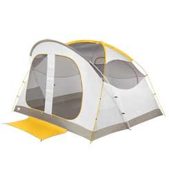 The North Face Kaiju 6 Tent Castor Grey/Arrowwood Yellow Size One Size front-715045