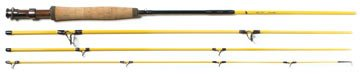 Eagle Claw Powerlight Im-7 5 Weight Fly Rod 4 Piece Yellow 9-feet by Eagle Claw