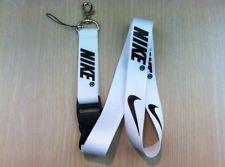 Nike White Lanyard Keychain Holder