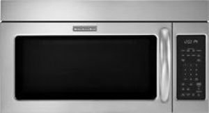 Keep Your Kitchen Smelling Fresh With This Kitchenaid 2.0 Cu. Ft. Over-The-Range Microwave That Features A 3-Speed, 300 Cfm Fan And A Hidden Midline Vent To Help Keep Your Cooking Space Clean. One-Touch Settings Ensure Simplified Use.