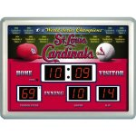 MLB Licensed St. Louis Cardinals 14 x 19 Scoreboard Clock and Temperature Board by Team Sports America