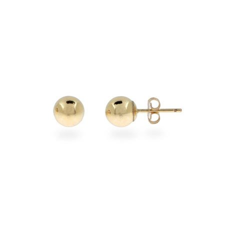 Mens 6mm 14K Gold Filled Bead Earrings