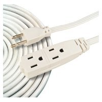 Woods 0609 8-Feet Cube Extension Cord with Power Tap, White