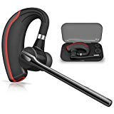 Bluetooth Headset HONSHOOP Bluetooth 5.0 Noise Reduction Bluetooth Earpiece in Ear Wireless Headphones Mic Earphones Business/Workout/Driving BlackRed (Color: Bluetooth 5.0 black red, Tamaño: Spoon Bluetooth 5.0)